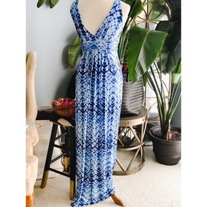 Final price- Tart navy blue tie dye maxi dress